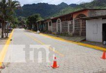 Inauguran calles adoquinadas en barrio de Jinotega