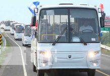 Transportistas de la ruta 262 firman contrato de autobuses rusos