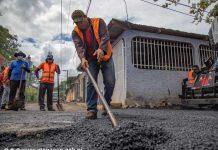 Calles para el pueblo lleva un 74 % de avance