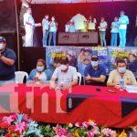 Acto cultural por inauguración de calle en un barrio de Siuna