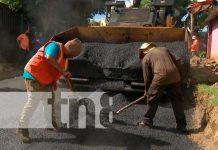 Construcción de nuevas calles en Managua
