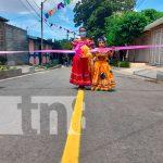 Once cuadras de calles son inauguradas en el barrio Augusto C. Sandino de Managua