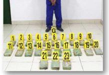 Presentación de delincuente que transportaba cocaína en Cárdenas, Rivas