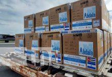 Arribo de vacunas cubanas Abdala y Soberana a Nicaragua