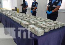 Incautación de dólares tras operativo en Nicaragua