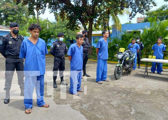 Delincuentes que capturó la Policía Nacional en Chinandega