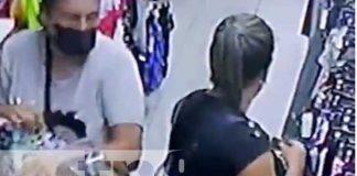 Grupo de gancheras robando en una tienda del país