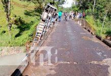 Fuerte accidente de tránsito en Jinotega