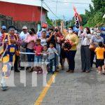 Inauguración de nuevas calles adoquinadas en León