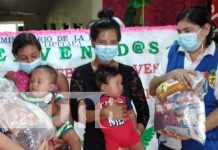 Ministerio de la Familia entrega paquetes alimenticios a madres de Tipitapa