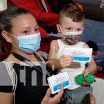 Aplicación de vacuna contra el COVID-19 en Masaya