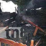 Conato de incendio afecta a una humilde vivienda en Matagalpa