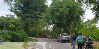 Invasión de carril provoca accidente vial en El Trapiche