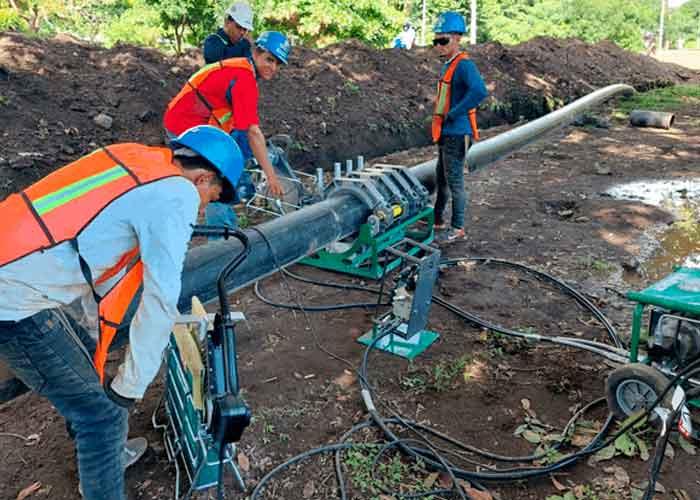 Avanzan obras de agua potable en Moyogalpa, Ometepe