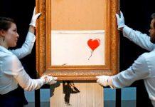 Obra Banksy triturada rompe récord al ser vendida por 25,4 millones de euros