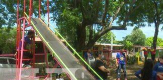 Entregan parque comunitario en barrio Laureano Mairena