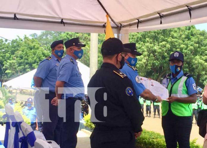 Estructura policial de Nicaragua consolidada con más de 1 mil 48 nuevos elementos