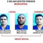Delincuentes capturados en Rivas