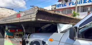 Una rastra provocó accidente en Managua
