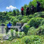 Lugar de rescate de una anciana en Managua