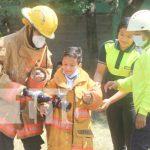 Exhibición sobre gestión de riesgo para niñez de Ocotal
