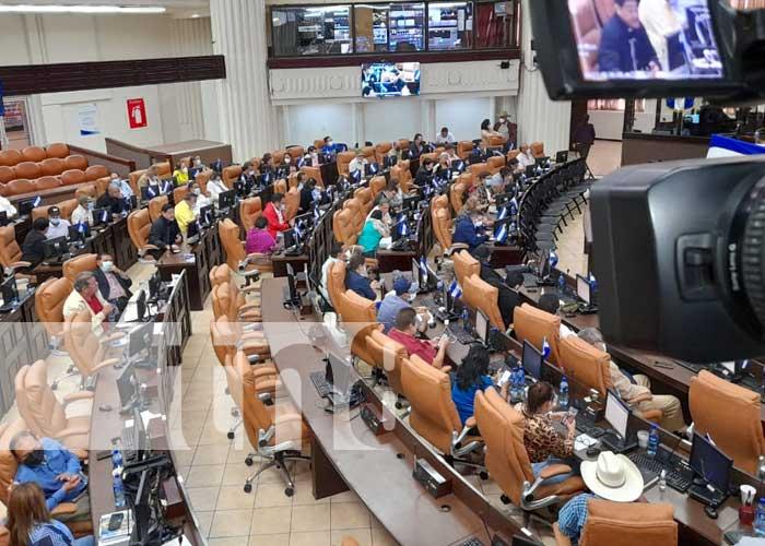 Sesión parlamentaria en la Asamblea Nacional, sobre préstamo para la salud