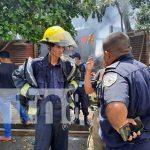 Incendio que afectó tres viviendas en el barrio San Judas