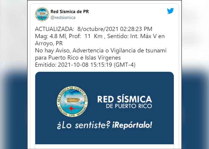 Sismo de magnitud 4.9 sacude el sureste de Puerto Rico | TN8.tv Nicaragua