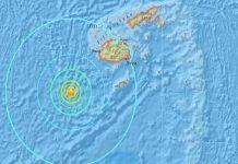 Un terremoto de magnitud 6,0 sacude las aguas de Fiyi, Pacífico Sur