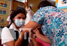 Aplicación de vacunas contra el COVID-19 en La Concepción, Masaya