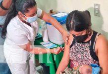 Jornada de vacunación a embarazadas en Managua