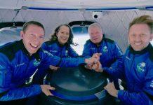 Actor de Star Trek flota dentro de la cápsula de Blue Origin en el espacio (VIDEO)