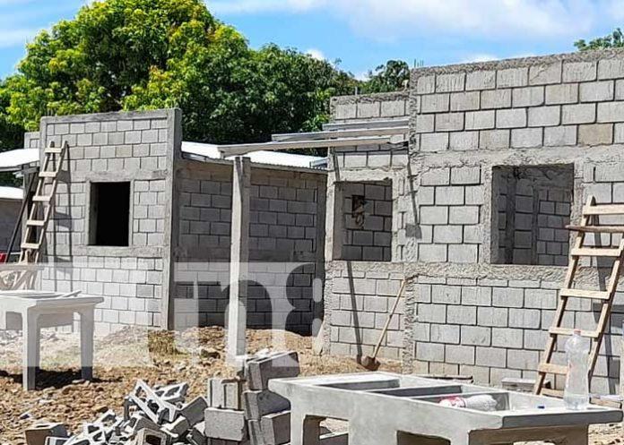 Construcción de viviendas del proyecto
