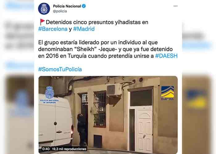 Caen miembros de célula yihadista en Madrid y Barcelona